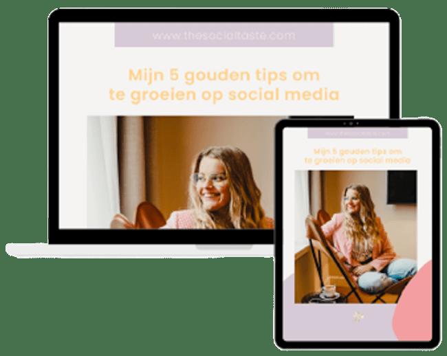 the Social Taste, E-book gouden tips om te groeien